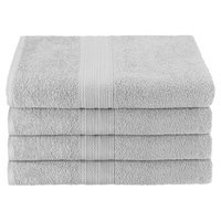 Simple Luxury Superior Bath Towel (Set of 4), Silver