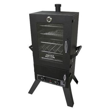 Smoke Hollow Outdoor Smokers 44 in. Vertical 2-Door Propane Gas Smoker with Window Black 44241GW