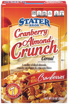 Stater Bros.® Cranberry Almond Crunch Cereal 13 oz