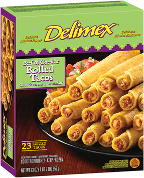Delimex® Beef & Cheese Rolled Tacos 23 oz. Box