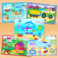 Olive Kids Boys Five Pack Summer Fun Personalized Placemat