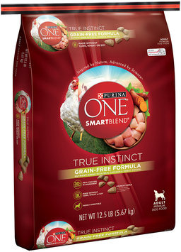 PURINA ONE® SmartBlend True Instinct Grain-Free Formula Nutrient-Dense with Real Chicken & Sweet Potato Adult Dog Food