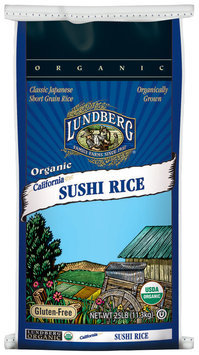 Lundberg Family Farms Og Sushi Rice Organic 25lb. Rice   Bag