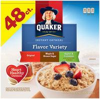 Quaker™ Flavor Variety Instant Oatmeal Original/Maple & Brown Sugar/Apples & Cinnamon 62.5 oz. Box