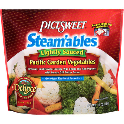 Pictsweet® Steam'ables® Deluxe Lightly Sauced Pacific Garden Vegetables 10 oz. Bag