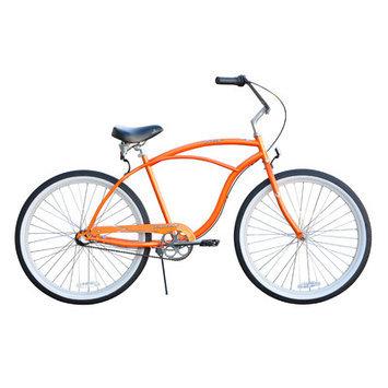 Sixthreezero Bikes Men's Urban Man 3 Speed Beach Cruiser Bike, Orange