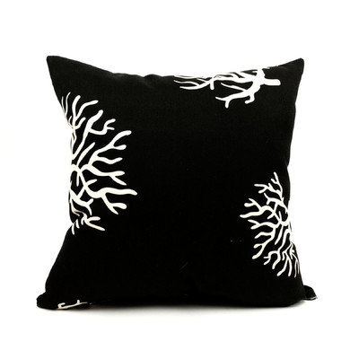 Majestic Home Goods Black Coral UV-Protected Outdoor Accent Pillow