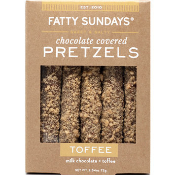 Fatty Sundays Toffee Milk Chocolate Covered Pretzels