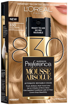 L'Oréal® Paris Superior Preference® Mousse Absolue™ 830 Medium Golden Blonde Haircolor 3.2 oz. Box