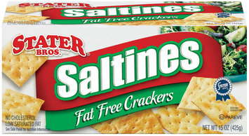 Stater Bros. Saltines Fat Free Crackers 15 Oz Box
