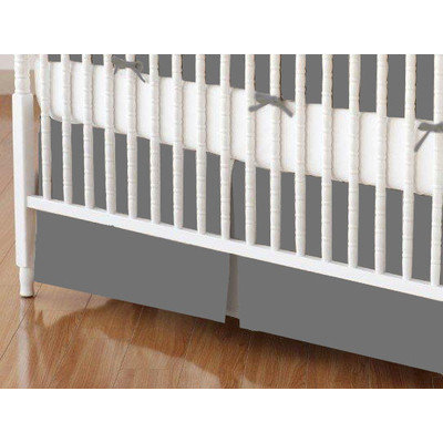 Sheetworld Jersey Knit Crib Skirt Color: Dark Gray