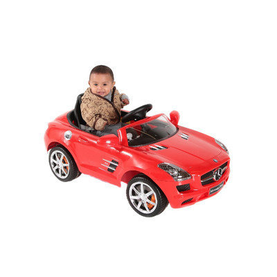 About Time Mercedes SLS 6V Battery Powered Kids Pedal Car Color: Red