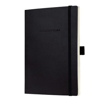 Sigel Conceptum Classic A4 Lined Softcover Notebook Black CO212