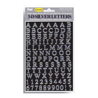 Pioneer Self-Adhesive 3-D Letters - Silver 3DLS