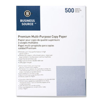 Business Source Punched Multipurpose Paper 10 RM/CT