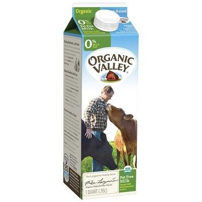 Organic Valley® Fat Free Organic Milk 32 fl. oz. Carton