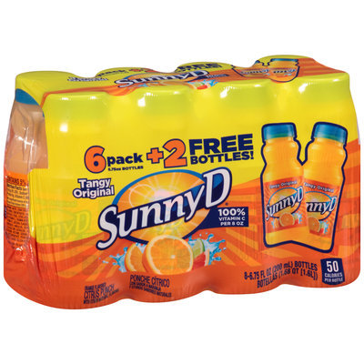 Sunny D® Tangy Original Orange Flavored Citrus Punch 8-6.75 fl. oz. Bottles