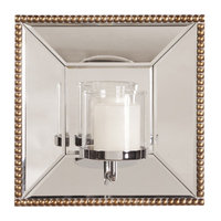 Howard Elliott 99075 Lydia Square Mirror Candle Holder in Antique Gold