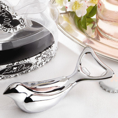 Kate Aspen 11035NA The Love Dove Chrome Bottle Opener in Elegant Oval Showcase Giftbox