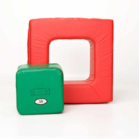 foamnasium Square In Square Play Furniture - Red/ Green