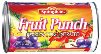 Springfield Frozen Concentrated Fruit Punch 12 Oz Can