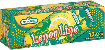 Springfield Lemon Lime 12 Oz. Cans Flavored Soda 12 Pk Carton