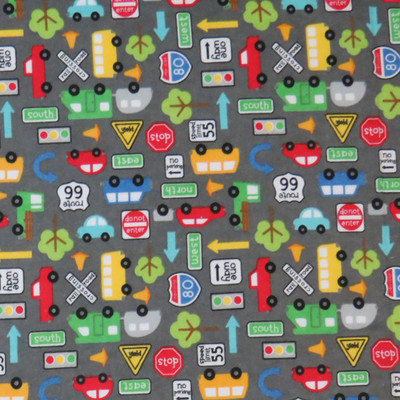 Stwd Traffic Vehicles Pack N Play Fitted Sheet