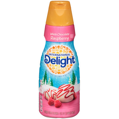 International Delight White Chocolate Raspberry Gourmet Coffee Creamer 32 fl. oz. Bottle