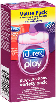 Durex® Play® Vibrating Ring/Lubricant Packets/Condoms Play Vibrations Variety Pack Box