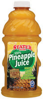 Stater Bros. Pineapple 100% Juice 64 Oz Plastic Bottle