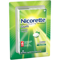 Nicorette® 4mg Fresh Mint™ Stop Smoking Aid Gum 200 ct Carded Pack