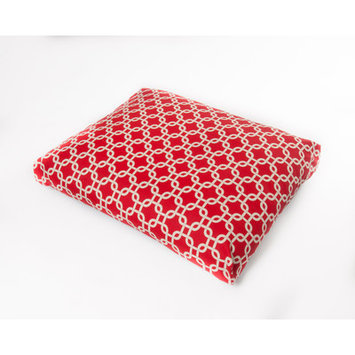 Oc Fun Saks Links Dog Pillow Color: Red, Size: Large (44