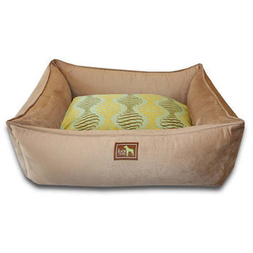 Luca For Dogs Spirals Easy-Wash Cover Lounge Donut Dog Bed Size: Large (44