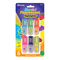 Bazic 231524 Fruit Scented Mini Highlighter Pack of 24