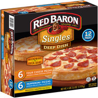 Red Baron® Singles Four Cheese/Pepperoni Deep Dish Pizzas Variety Pack 12 ct Box