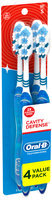 Oral-B Cavity Defense Soft Bristles Toothbrush 4 ct Carded Pack