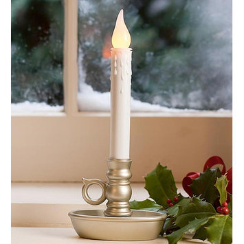 Plow & Hearth Flameless Candle Set (Set of 4) Finish: Pewter