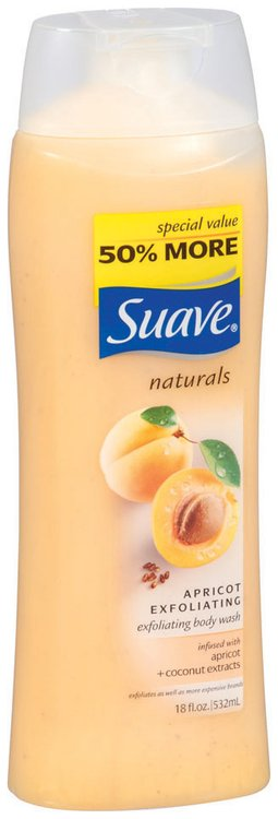 Suave Naturals Apricot Exfoliating Body Wash 18 Fl Oz Squeeze Bottle