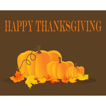 Secretly Designed Happy Thanksgiving Art Print