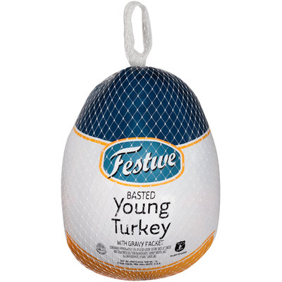 Festive Basted Young Turkey with Gravy Packet