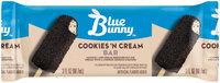 Blue Bunny™ Cookies 'N Cream Ice Cream Bar 3 fl. oz. Wrapper