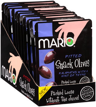 Mario® Pitted Kalamata Snack Olives with a Hint of Thyme 1.05 oz. Pouch