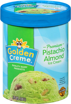 Golden Creme® Premium Pistachio Almond Ice Cream 1.75 qt. Tub
