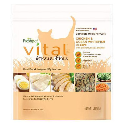 Freshpet® Vital® Grain Free CHICKEN & OCEAN WHITEFISH CAT FOOD RECIPE WITH CARROTS, EGGS & SPINACH