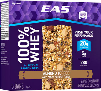 EAS® 100% Whey Almond Toffee Pure Whey Protein Bars