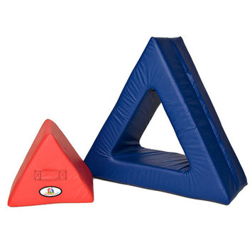 foamnasium Triangle In Triangle Play Furniture - Red/ Blue