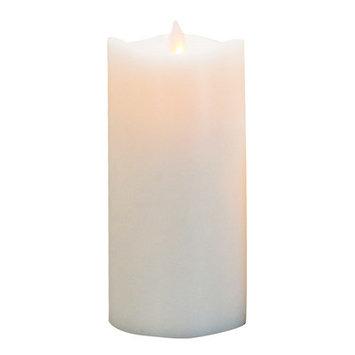 Boston Warehouse 35146 Mystique 360 Degree 7 in. White Flameless Pillar Candle