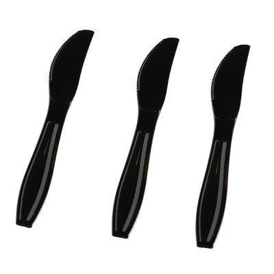 Fineline Settings, Inc Flairware Heavy Duty Box Bulk Disposable Plastic Knife (1000/Case), Black