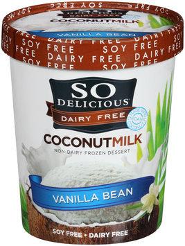 So Delicious® Dairy Free Coconut Milk Vanilla Bean Non-Dairy Frozen Dessert 1 qt. Tub