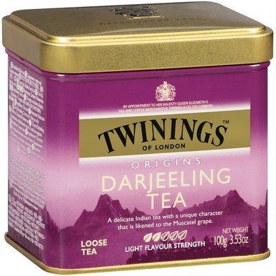 Twinings of London Origins Darjeeling Light Flavour Strength Loose Tea 3.53 Oz Tin